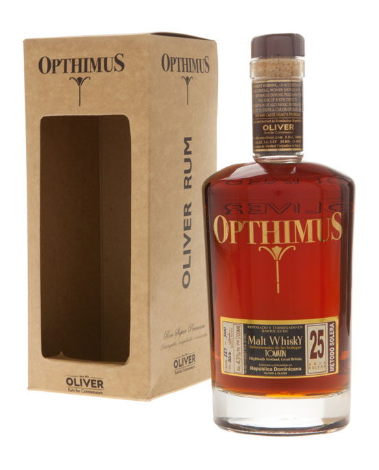 Opthimus Rum, 25 Year, Whisky Barrel Finish, 70cl
