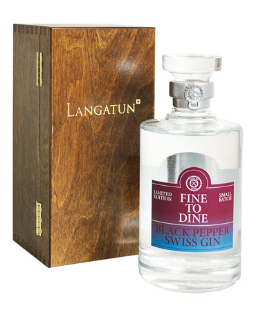 Fine To Dine by Langatun, Black Pepper Swiss Gin, 50 cl