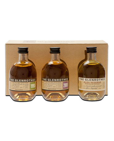 Glenrothes 1995, 2001, Alba Reserve, Geschenkpackung, 3x 10 cl