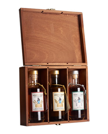 Säntis Malt & Cream, Set in Holzkiste, 3x 20 cl