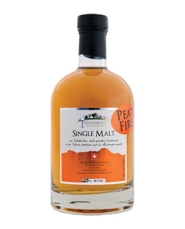 Säntisblick Destillerie, Single Malt, Peat Fire, 50cl