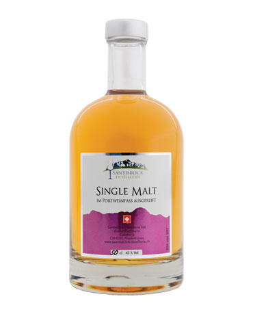 Säntisblick Destillerie, Single Malt, Portweinfass, 50cl
