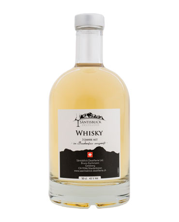 Säntisblick Destillerie, Whisky, Bourbonfass, 50cl