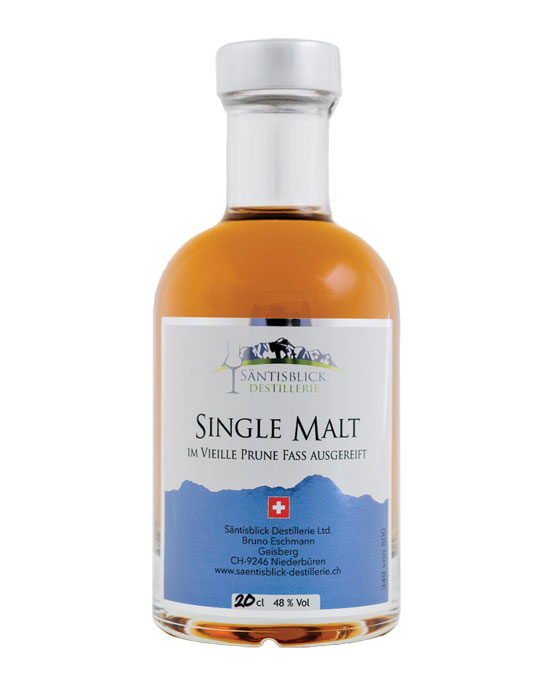 Säntisblick Destillerie, Single Malt, Vieille Prune Fass, 20cl
